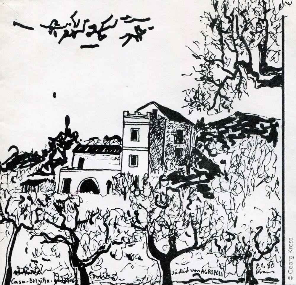 Casa Brigitta. 1980. Tusche auf Japanpapier.