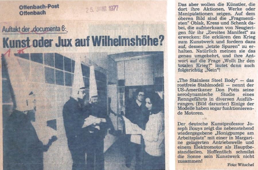 Pressestimmen: Documenta 6