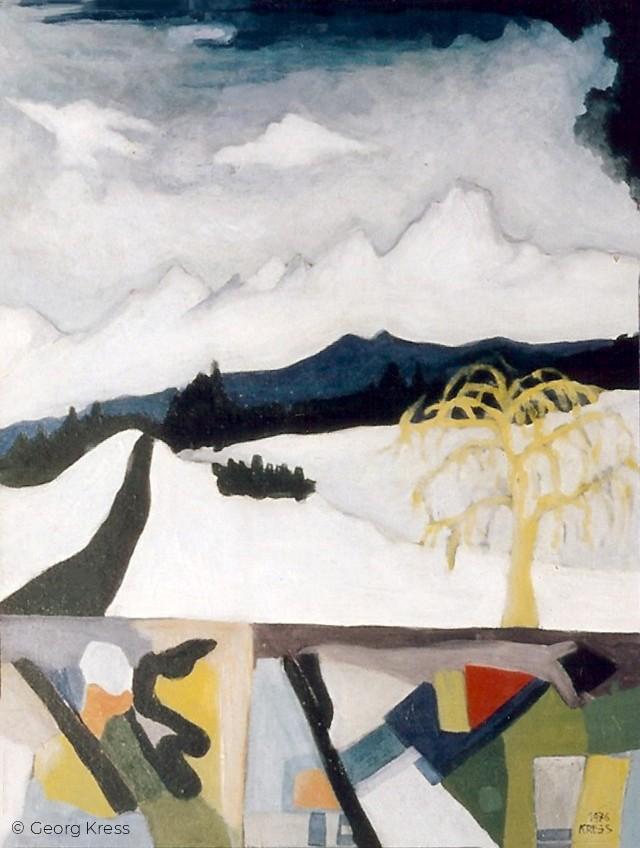 Winter im Chiemgau. 1976. Eitempera.