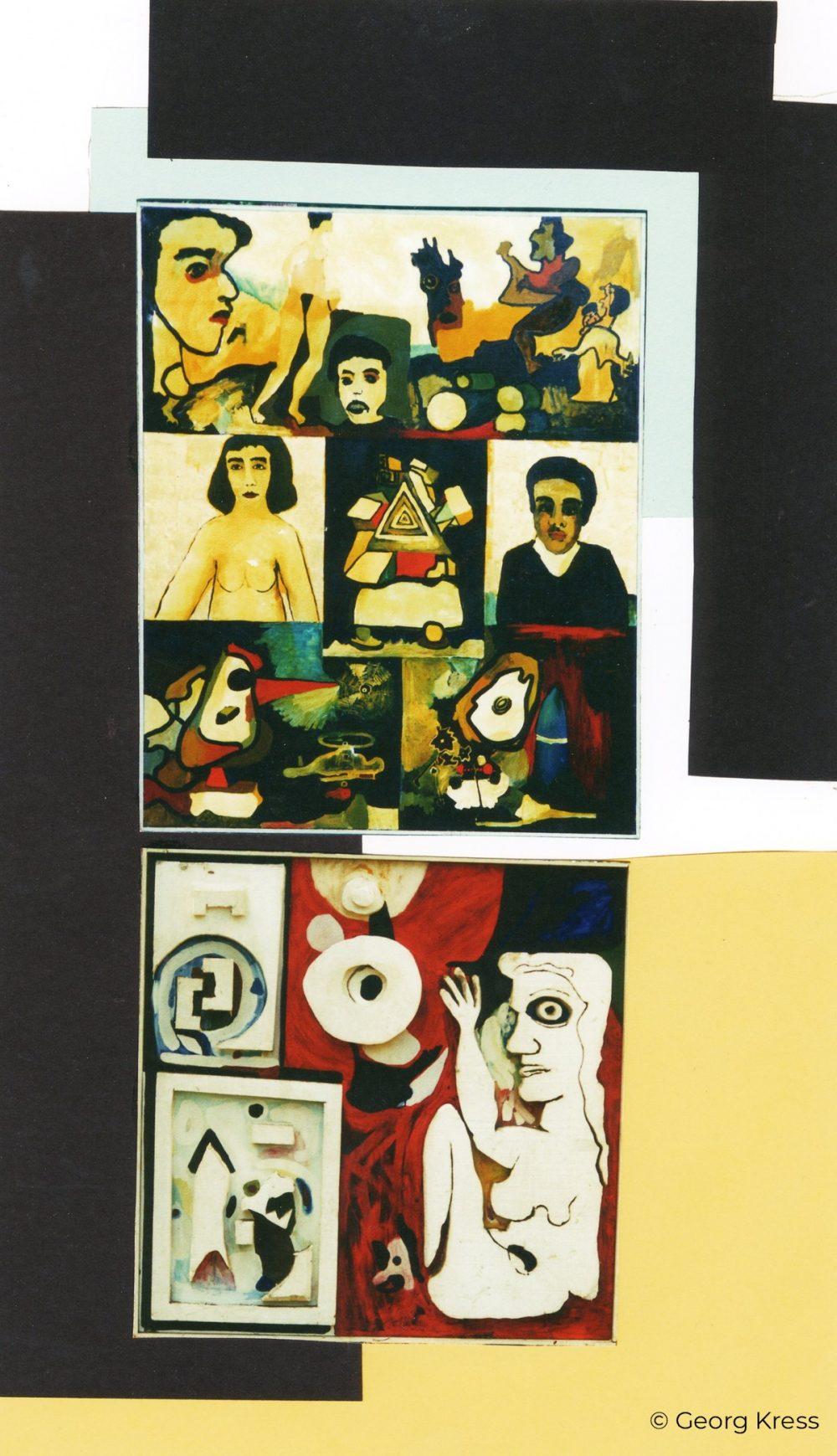 Adam und Eva im Atomzeitalter. 1995. Eitempera, Öl, Styropor auf Leinwand, Holz.