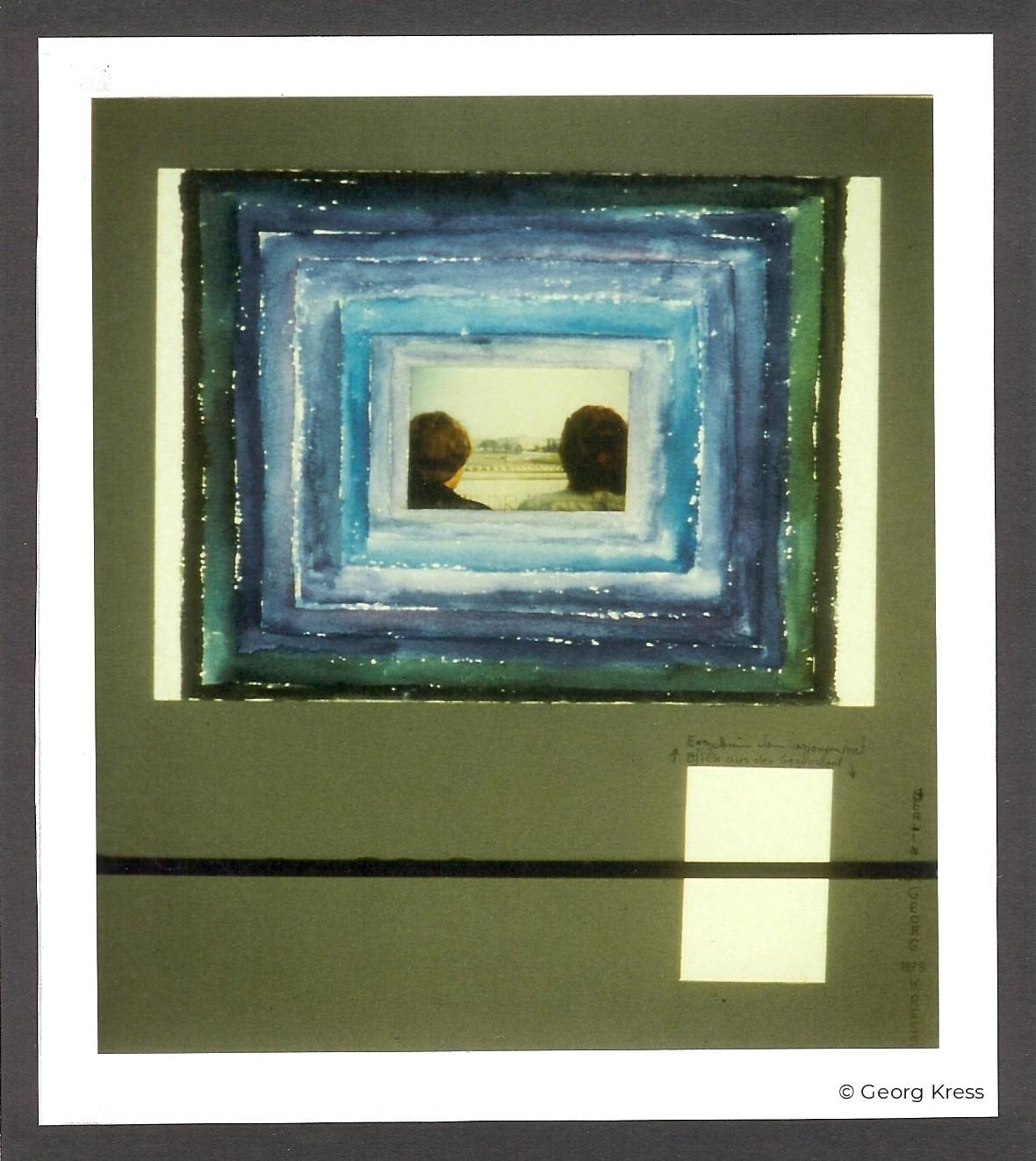 Blick auf den Potsdamer Platz. 1979. Aquarell, Tusche auf Papier und Karton.