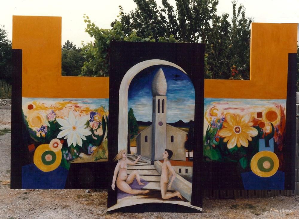 Frühling im Karst. 1990. Öl, Eitempera auf Holz.