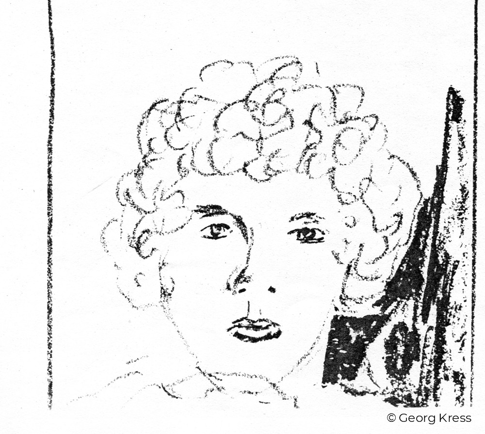 Junge Frau II. 1980. Tusche auf Papier.