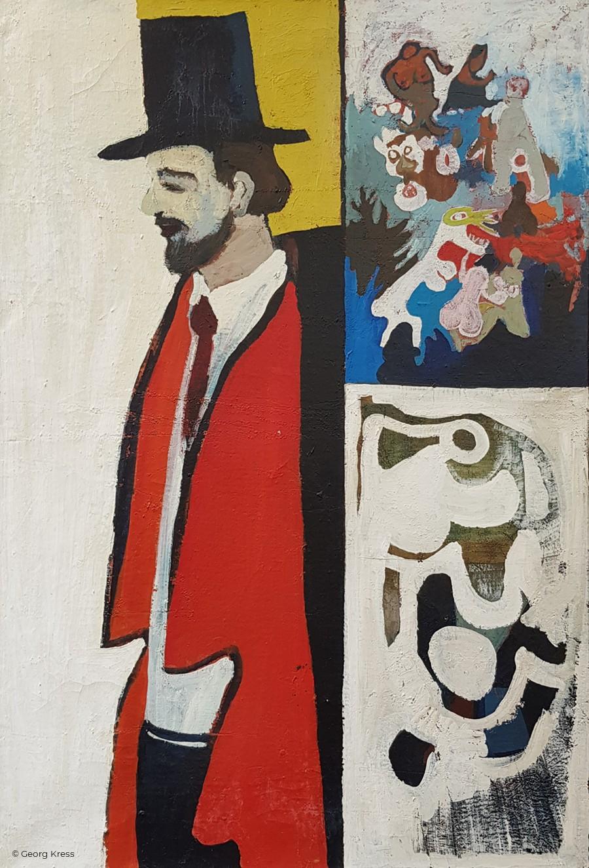 L. van de Hoeven. 1962. Tempera, Öl auf Leinwand.