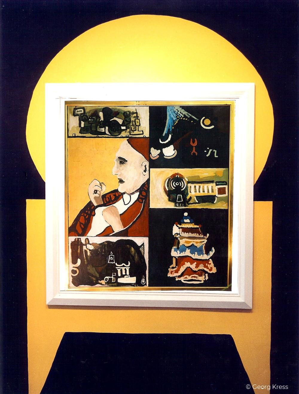 Papst Johannes XXIII. 1995. Eitempera, Blattgold auf Leinwand.