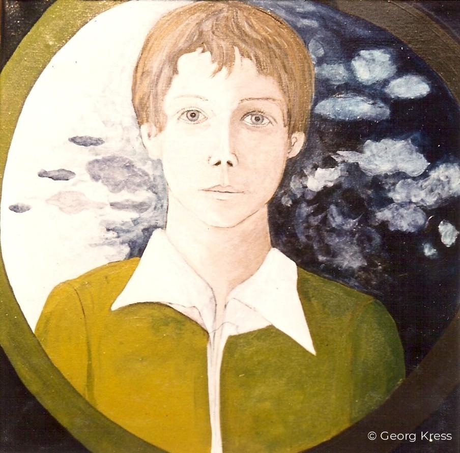 Portrait des Kindes Wolfgang. 1977. Eitempera.