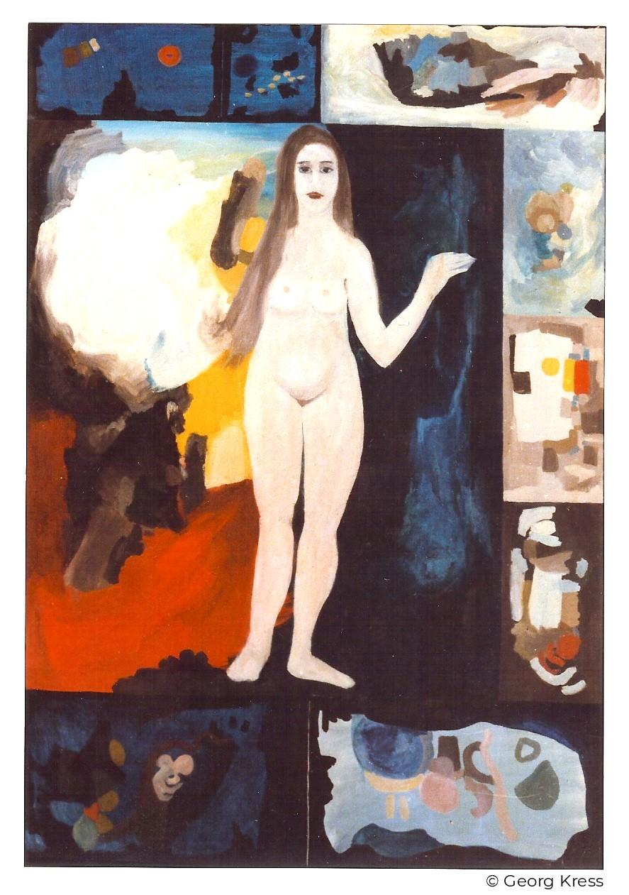 Venus steigt aus dem Raum. 1965. Eitempera, Öl auf Leinwand.