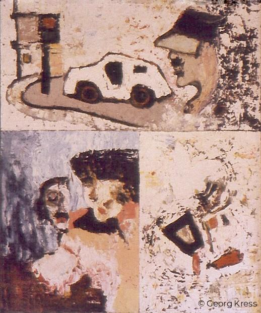 Zwei Freundinnen. 1964. Tempera, Öl auf Leinwand.
